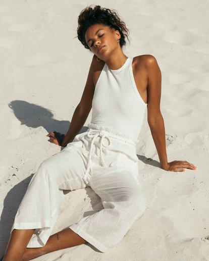 0 Wander On Beach Cover-Up Pants White ABJX600154 Billabong