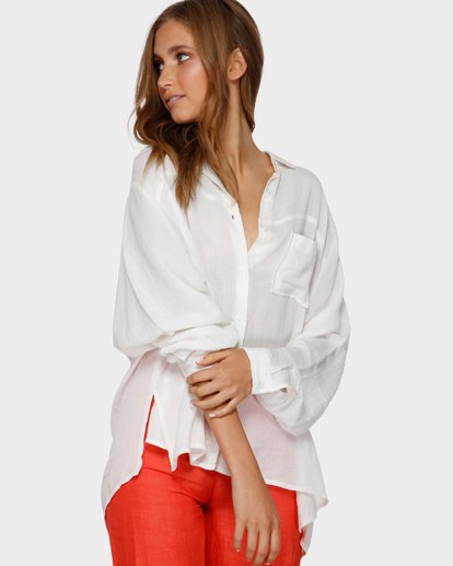 0 Strangers Shirt White ABJX600161 Billabong