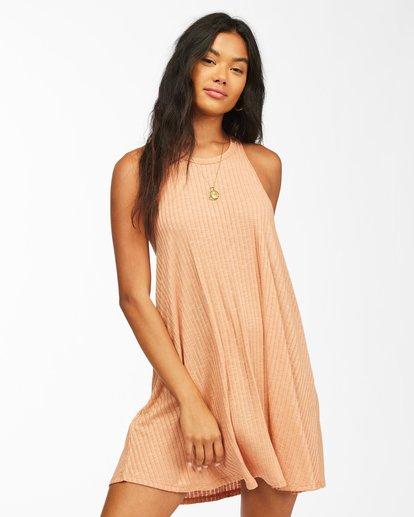 0 Sandy Sea Beach Cover-Up Dress Brown ABJX600166 Billabong