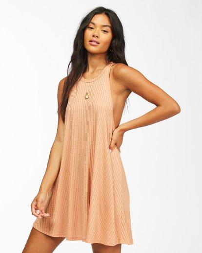 1 Sandy Sea Beach Cover-Up Dress Brown ABJX600166 Billabong