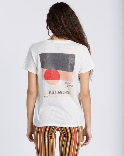 2 Love And Surf T-Shirt White ABJZT00133 Billabong