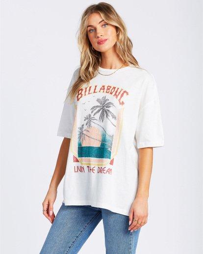 2 Livin The Dream T-Shirt White ABJZT00134 Billabong