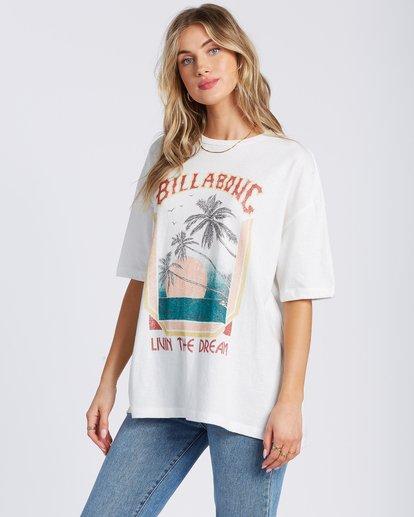 5 Livin The Dream T-Shirt White ABJZT00134 Billabong