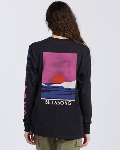 3 A/DIV Sunset View Long Sleeve T-Shirt Black ABJZT00139 Billabong