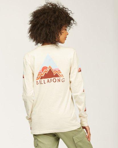1 Moutain Peak Long Sleeve T-Shirt White ABJZT00146 Billabong