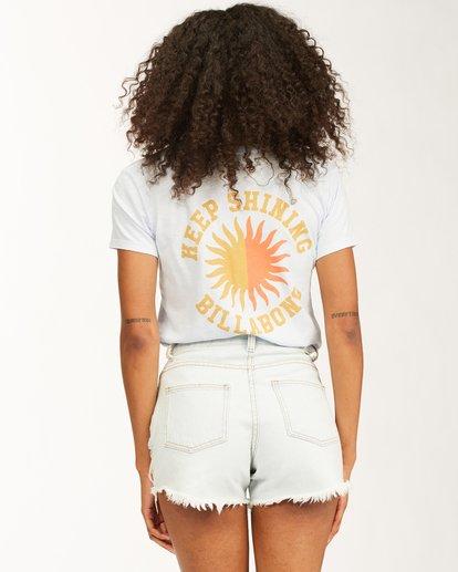 3 Keep Shining Short Sleeve T-Shirt White ABJZT00172 Billabong
