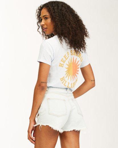 5 Keep Shining Short Sleeve T-Shirt White ABJZT00172 Billabong