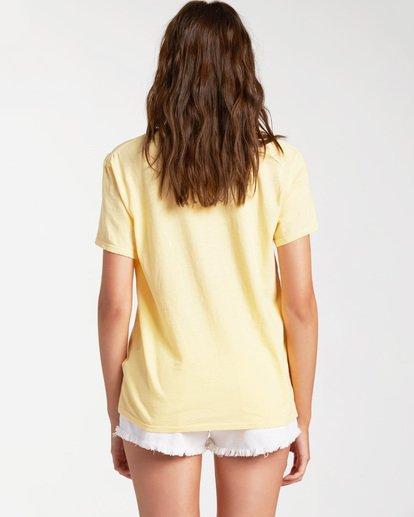 2 Blue Skies Short Sleeve T-Shirt Yellow ABJZT00174 Billabong