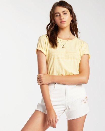 1 Blue Skies Short Sleeve T-Shirt Yellow ABJZT00174 Billabong