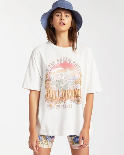 1 Day Dream Away Short Sleeve T-Shirt White ABJZT00176 Billabong