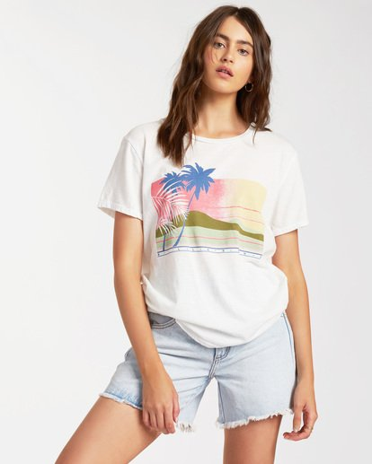 0 Sunny Days Short Sleeve T-Shirt White ABJZT00185 Billabong