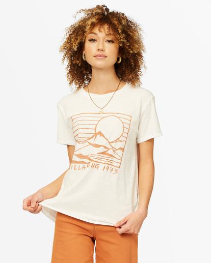 0 Mountain Mama Boyfriend T-Shirt White ABJZT00376 Billabong