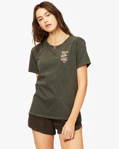 0 Lost In Paradise Overdyed Boyfriend T-Shirt Black ABJZT00379 Billabong