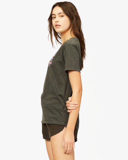 1 Lost In Paradise Overdyed Boyfriend T-Shirt Black ABJZT00379 Billabong