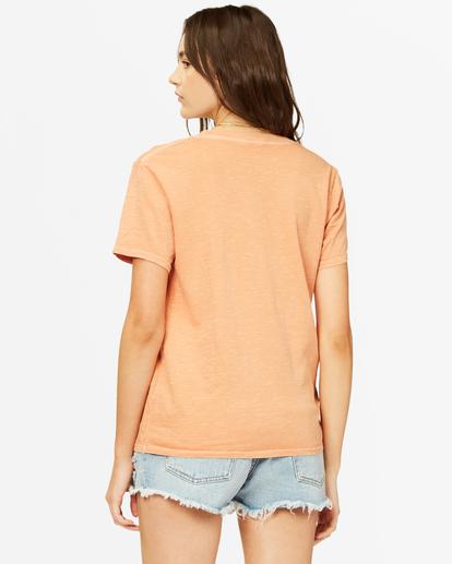 2 Tropical Oasis Overdyed Boyfriend T-Shirt Brown ABJZT00385 Billabong