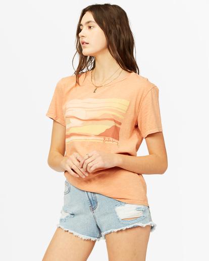 1 Tropical Oasis Overdyed Boyfriend T-Shirt Brown ABJZT00385 Billabong
