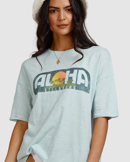6 Aloha Sun T-Shirt Blue ABJZT00463 Billabong