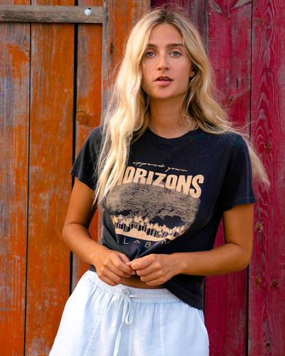 0 Horizons Short Sleeve T-Shirt Black ABJZT00471 Billabong