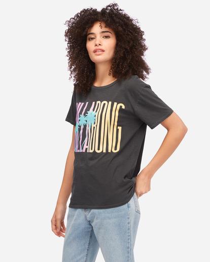 1 Sun Club Boyfriend T-Shirt Black ABJZT00605 Billabong