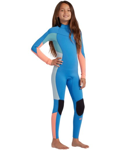 0 3/2 Toddler Girls Synergy Back Zip Wetsuit Black ABOW100101 Billabong