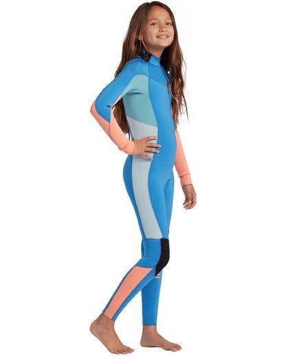 1 3/2 Toddler Girls Synergy Back Zip Wetsuit Black ABOW100101 Billabong