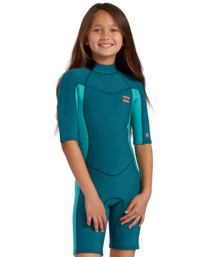 0 2mm Toddler Girls Synergy Back Zip Spring Wetsuit  ABOW500100 Billabong