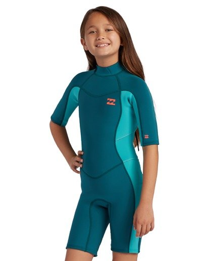 2 2mm Toddler Girls Synergy Back Zip Spring Wetsuit  ABOW500100 Billabong