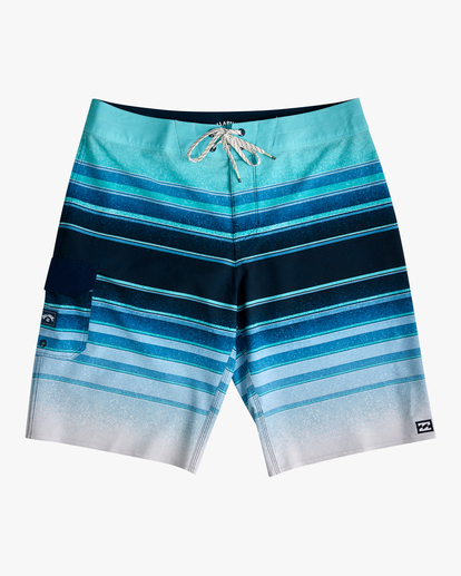"0 Boys' (2-7) All Day Stripe Pro Boardshorts 14"" Blue ABTBS00103 Billabong"
