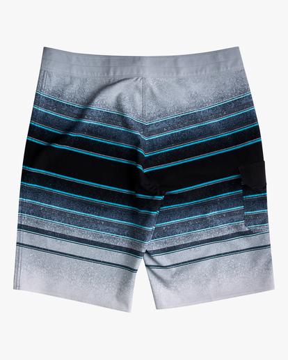 "1 Boys' (2-7) All Day Stripe Pro Boardshorts 14"" Grey ABTBS00103 Billabong"
