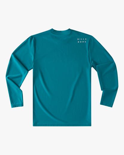 1 Boys' (2-7) All Day Wave Loose Fit Long Sleeve Rashguard Blue ABTWR00102 Billabong