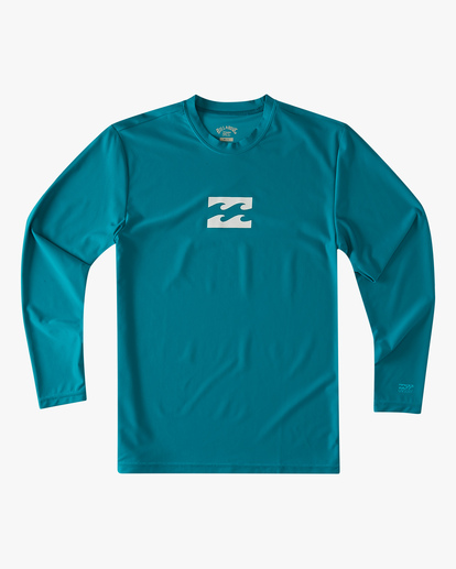 0 Boys' (2-7) All Day Wave Loose Fit Long Sleeve Rashguard Blue ABTWR00102 Billabong