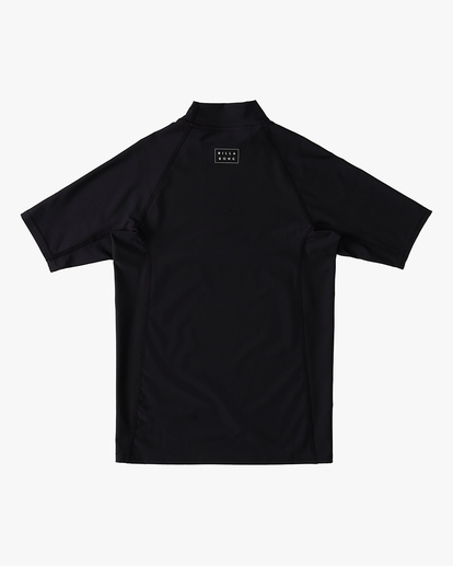 1 Boys' (2-7) All Day Wave Performance Fit Short Sleeve Rashguard Black ABTWR00105 Billabong