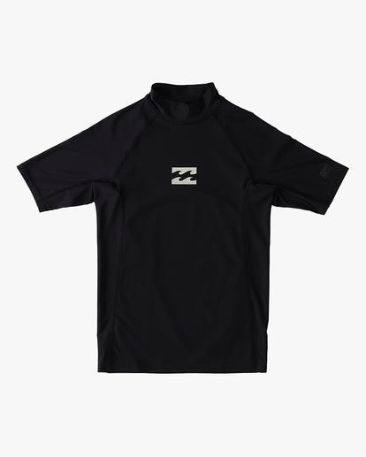 0 Boys' (2-7) All Day Wave Performance Fit Short Sleeve Rashguard Black ABTWR00105 Billabong
