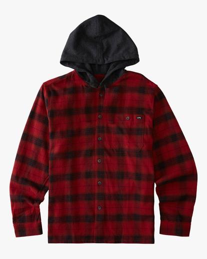 0 Boys' (2-7) Baja Flannel Shirt Red ABTWT00106 Billabong