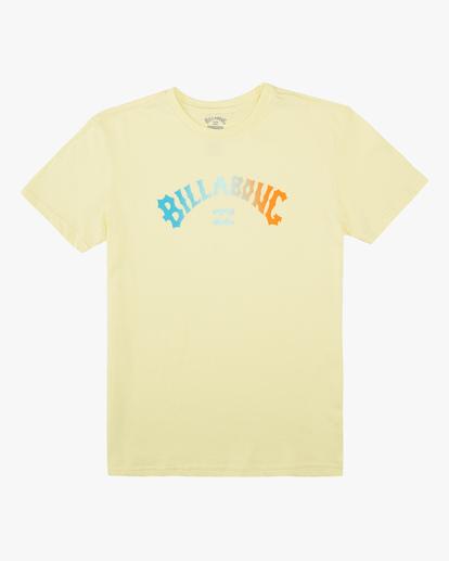 0 Boys' (2-7) Arch Fade Short Sleeve T-Shirt Yellow ABTZT00116 Billabong