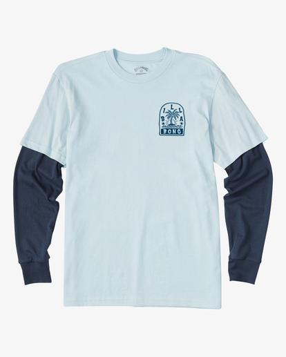 0 Boy's (2-7) Maze TwoFer Long Sleeve T-Shirt Blue ABTZT00125 Billabong