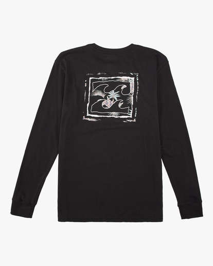 1 Boys' (2-7) Crayon Wave Long Sleeve T-Shirt Black ABTZT00142 Billabong
