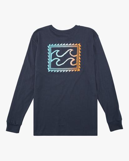1 Boys' (2-7) Crayon Wave Long Sleeve T-Shirt Blue ABTZT00142 Billabong