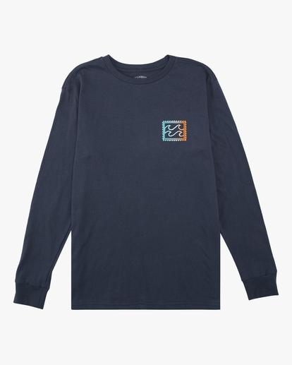 0 Boys' (2-7) Crayon Wave Long Sleeve T-Shirt Blue ABTZT00142 Billabong