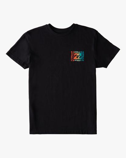 0 Boys' (2-7) Crayon Wave Short Sleeve T-Shirt Black ABTZT00149 Billabong
