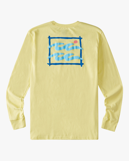 1 Boys' (2-7) Crayon Wave Long Sleeve T-Shirt Yellow ABTZT00155 Billabong