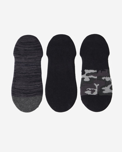 1 3-Pack Camo No-Show Socks Black ABYAA00171 Billabong