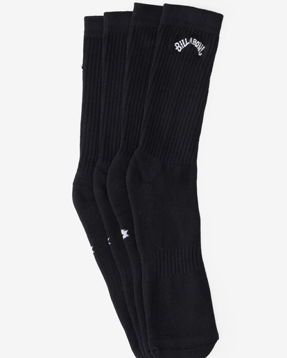 1 2-Pack Core Crew Socks Black ABYAA00172 Billabong