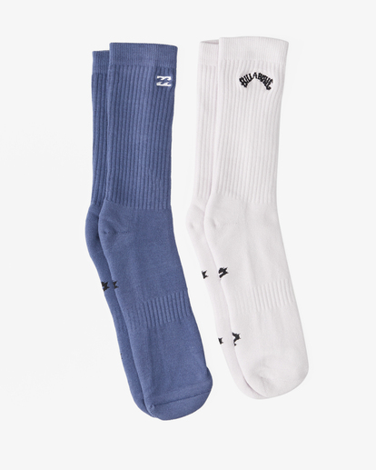 0 2-Pack Core Crew Socks Purple ABYAA00172 Billabong