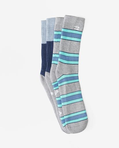 1 2-Pack Stripe Crew Socks Grey ABYAA00175 Billabong