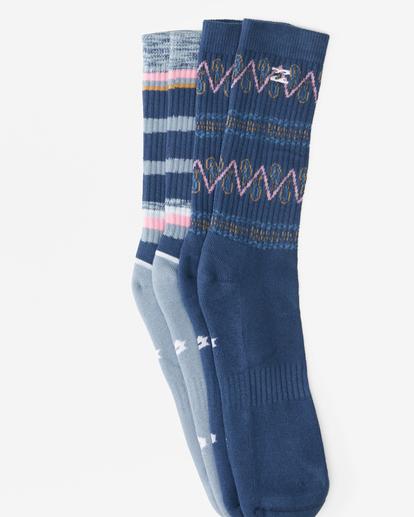 1 2-Pack Paisley Crew Socks Blue ABYAA00176 Billabong