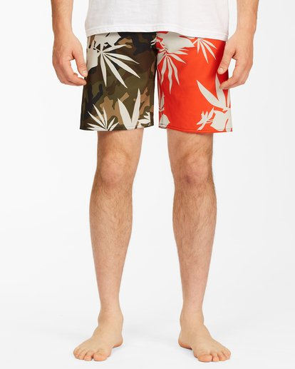 """2 Sundays Airlite Boardshorts 19"""" Red ABYBS00101 Billabong"""
