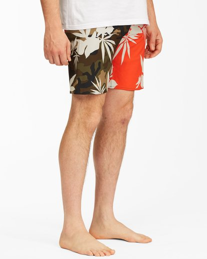 """4 Sundays Airlite Boardshorts 19"""" Red ABYBS00101 Billabong"""