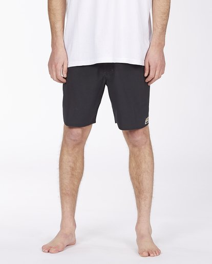 """2 All Day Pigment Pro Boardshorts 17"""" Black ABYBS00110 Billabong"""