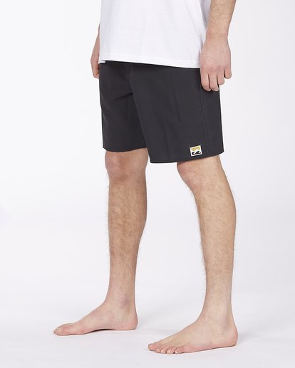 """3 All Day Pigment Pro Boardshorts 17"""" Black ABYBS00110 Billabong"""